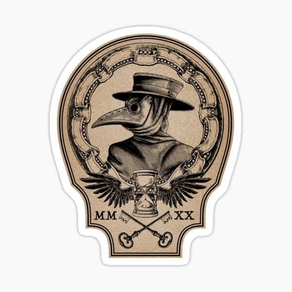 Vintage Plague Doctor Sticker