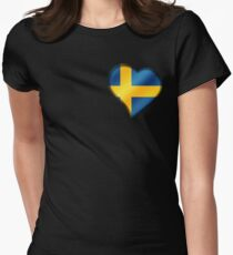Swedish Flag - Sweden - Heart T-Shirt