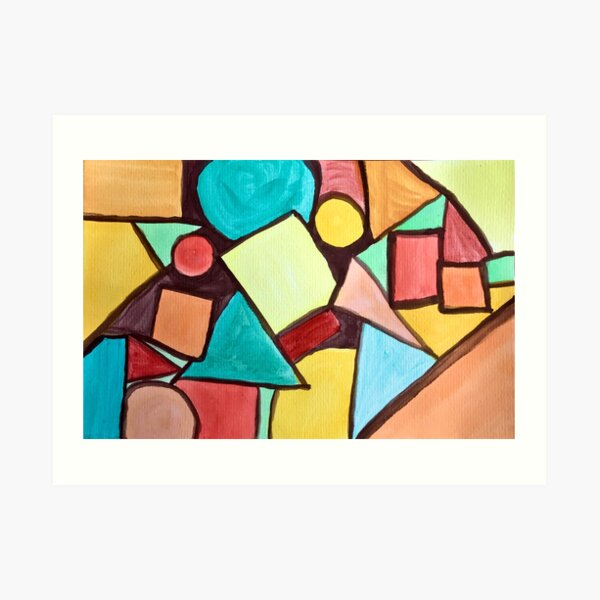 """""""Conundrum"""" abstract watercolor painting  Art Print"""
