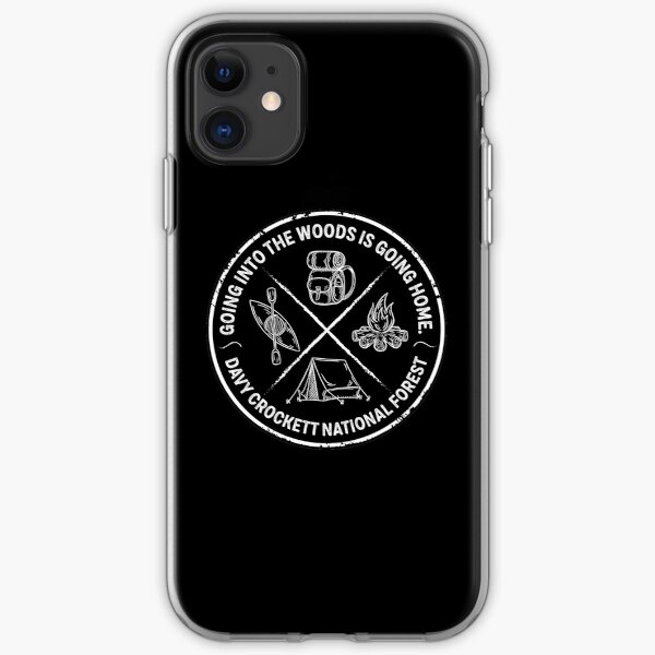 Davy Crockett National Forest Shirts, Mugs and Stickers (PPP) iPhone Soft Case