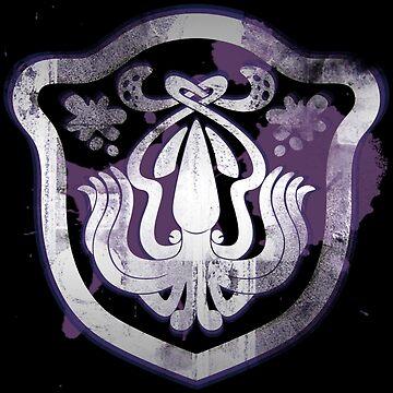 Splatoon Inspired: Squid spray paint logo by kajatta