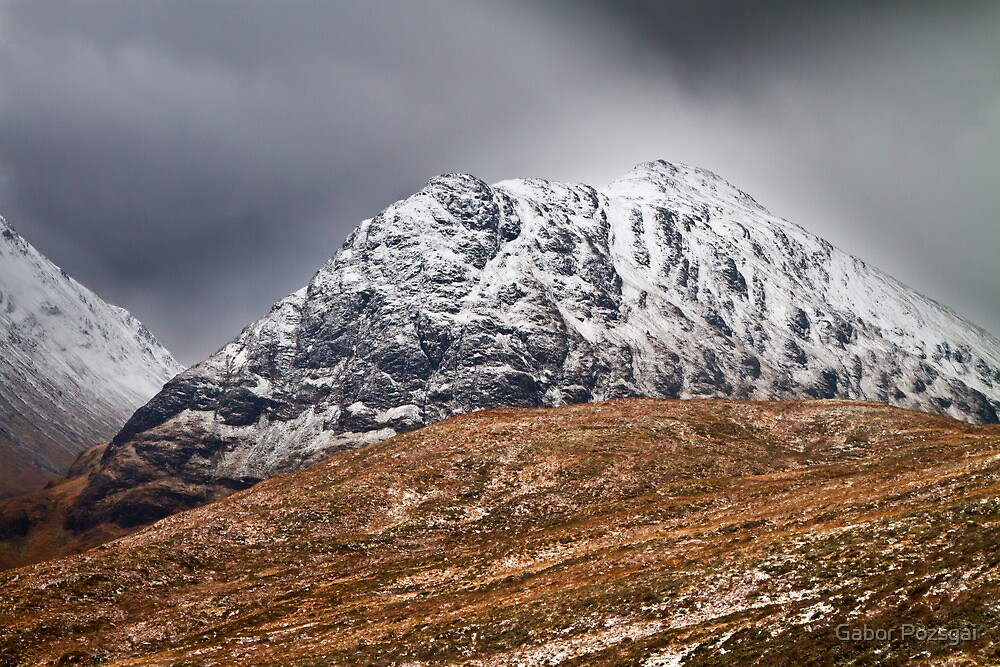 Meall Dearg mountain at Glencoe, Scotland by Gabor Pozsgai