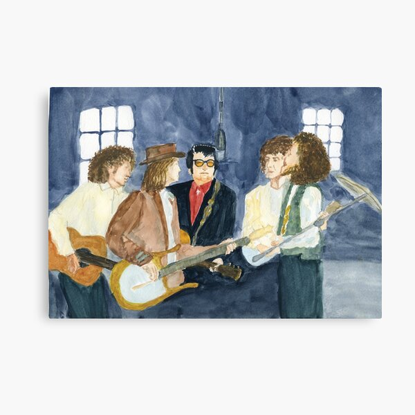 The Travelling Wilburies recording session Canvas Print