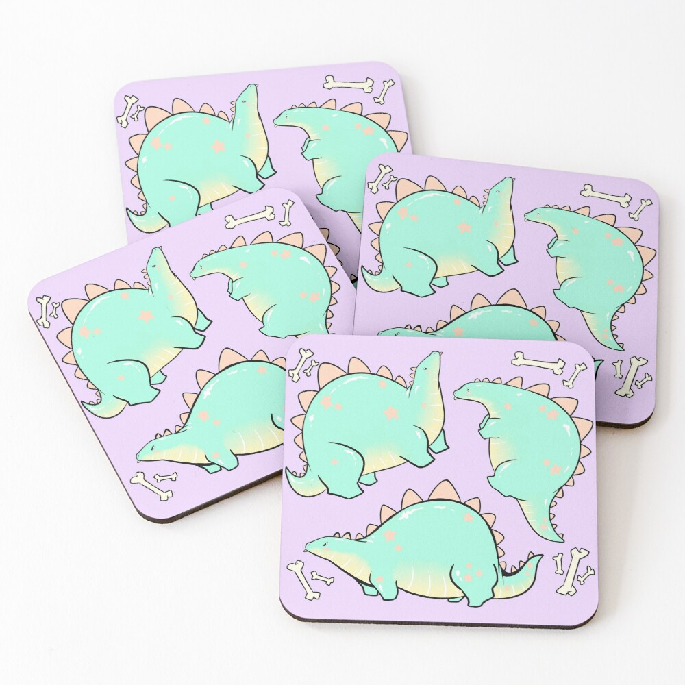 Blep-o-saurus  Coasters (Set of 4)