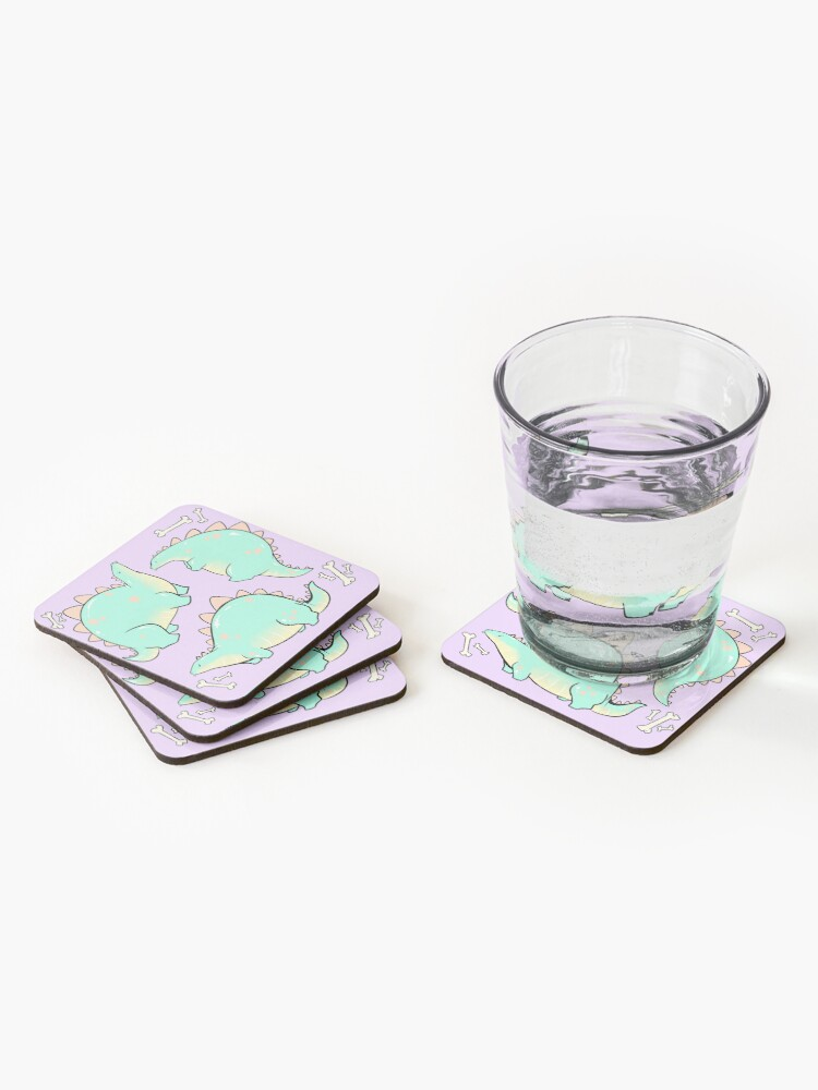 Alternate view of Blep-o-saurus  Coasters (Set of 4)