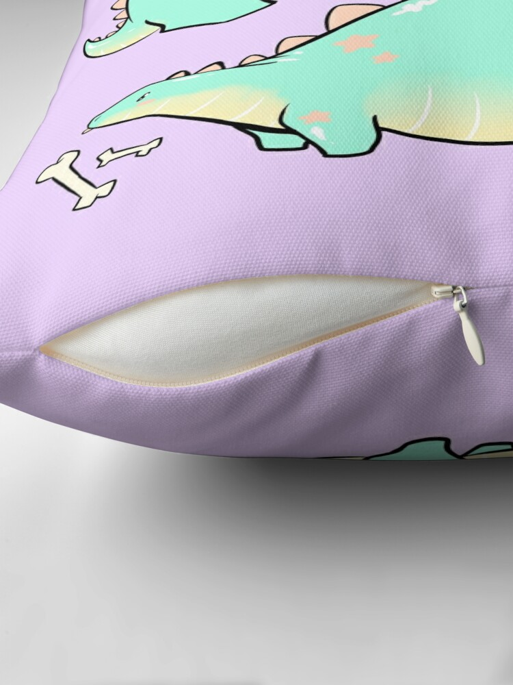 Alternate view of Blep-o-saurus  Throw Pillow