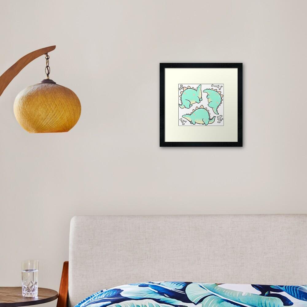 Blep-o-saurus  Framed Art Print
