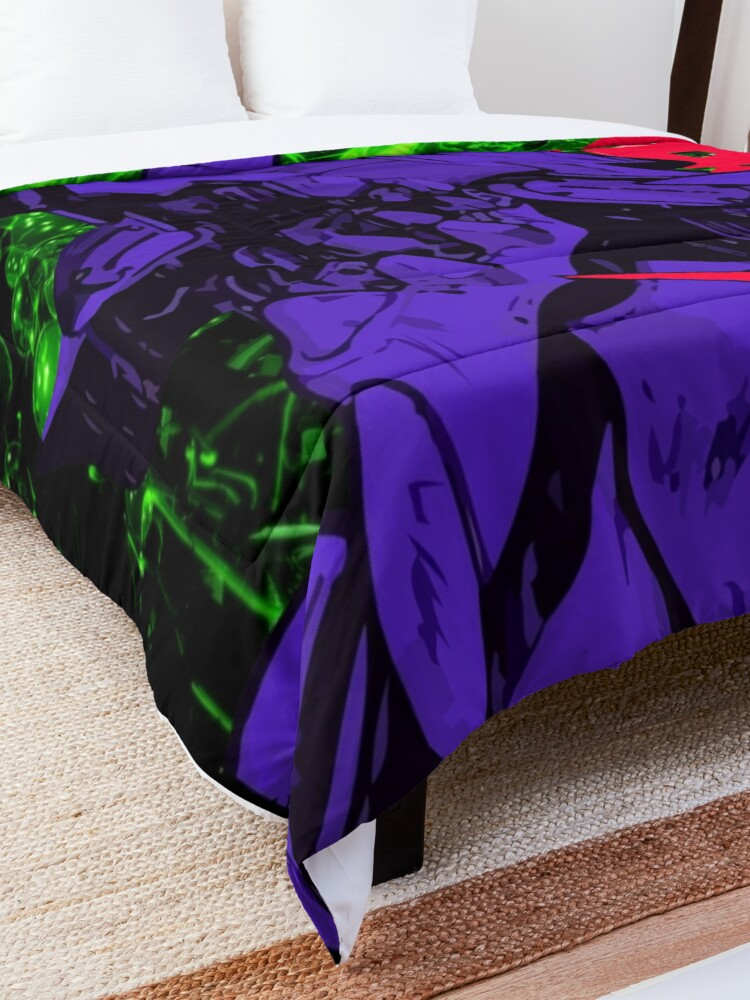 Alternate view of Neon Cyber Genesis Nerv Evangelion Comforter
