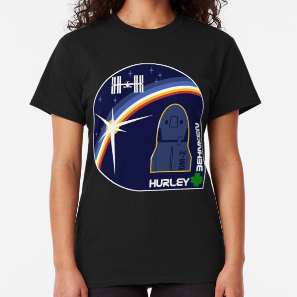 SpaceX Crew Dragon DM-2 Mission Patch Classic T-Shirt