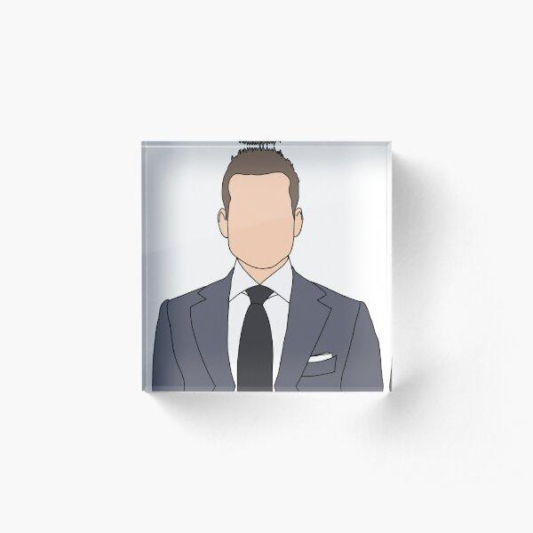 Harvey Specter Outline Acrylic Block
