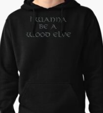 Wood Elves Text Only Pullover Hoodie