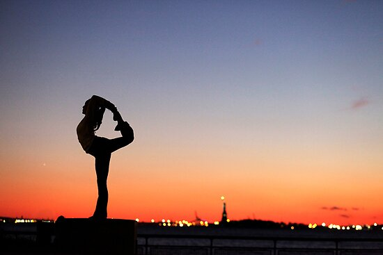 Yoga in New York silouette by Wari Om  Yoga Photography
