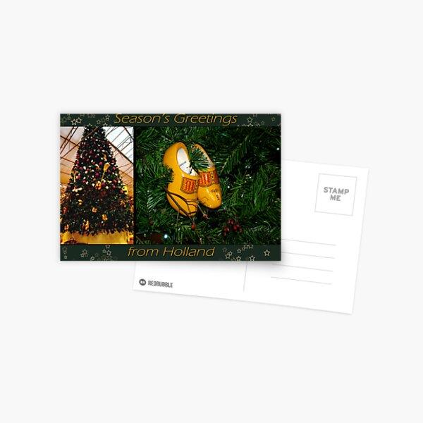 WoodenShoes Xmas Tree - card Postcard