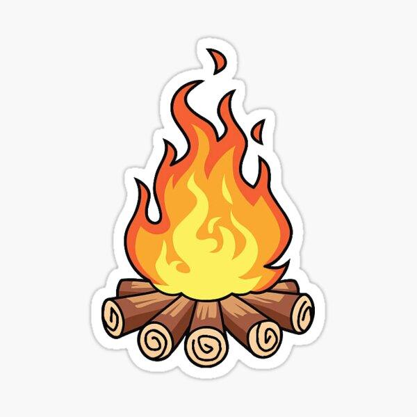 Campfire Sticker