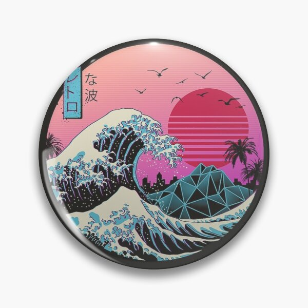 The Great Retro Wave Pin