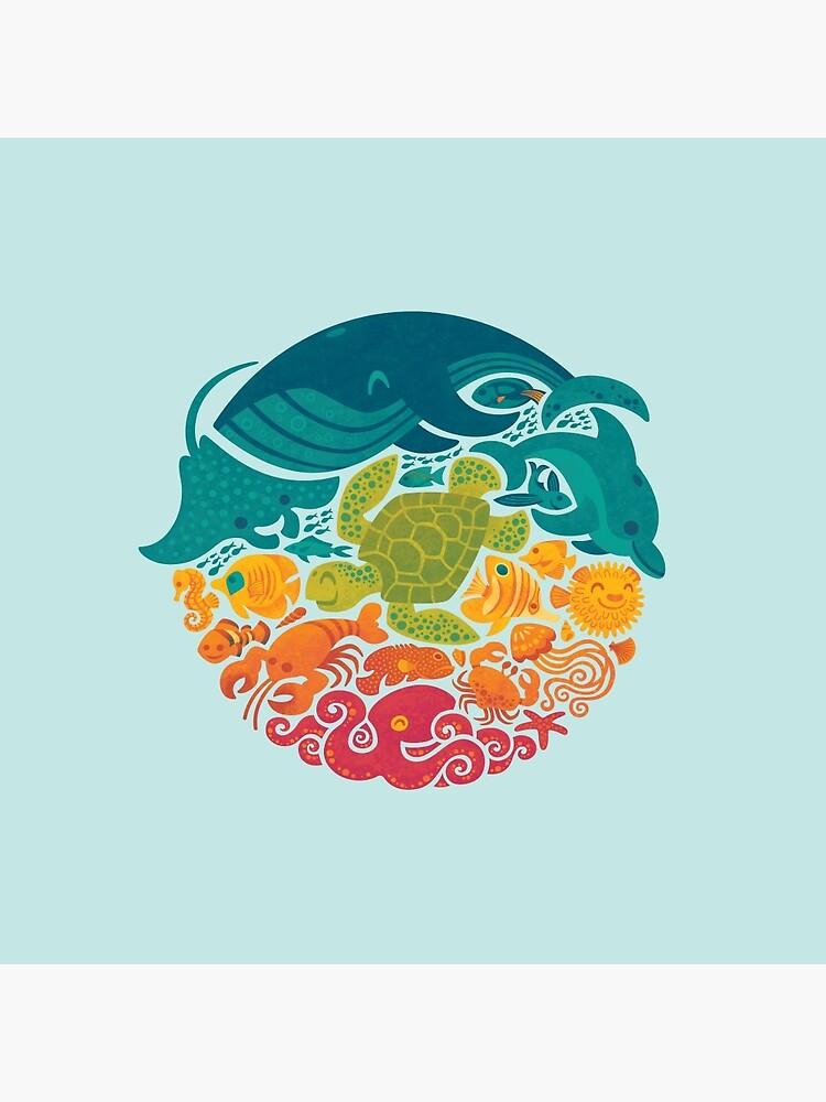 Aquatic Rainbow (light blue) by Waynem79