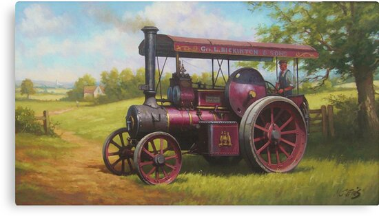 Old traction engine by Mike Jeffries
