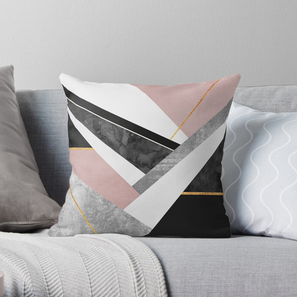 Lines & Layers Throw Pillow