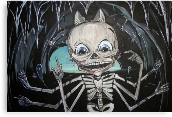 Mr. Bones or the Skeleton in the Cave by Xavier  Lopez