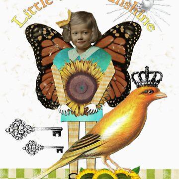 Little Miss Sunsine Altered Art Shirt by Gidget26