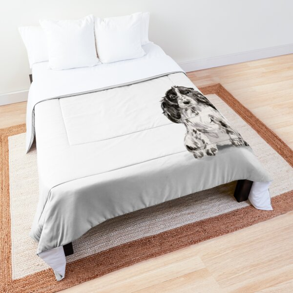 Cocker Spaniel Illustration Comforter