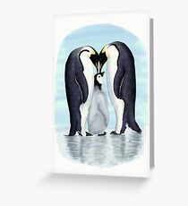 family of penguins Greeting Card