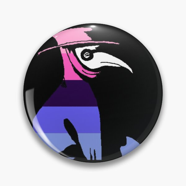 Pride Cannot Be Quarantined Omnisexual Flag Plague Doctor Pin