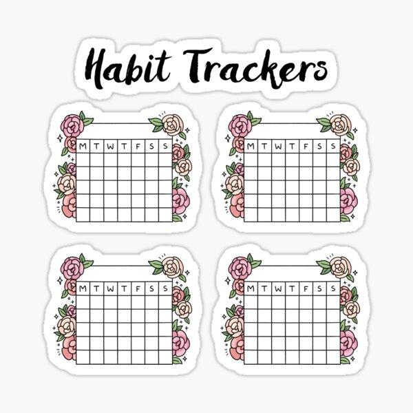 Suivi des habitudes de rose pour la journalisation des puces Sticker