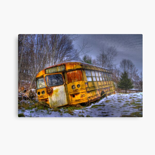 School Bus 23 Metal Print
