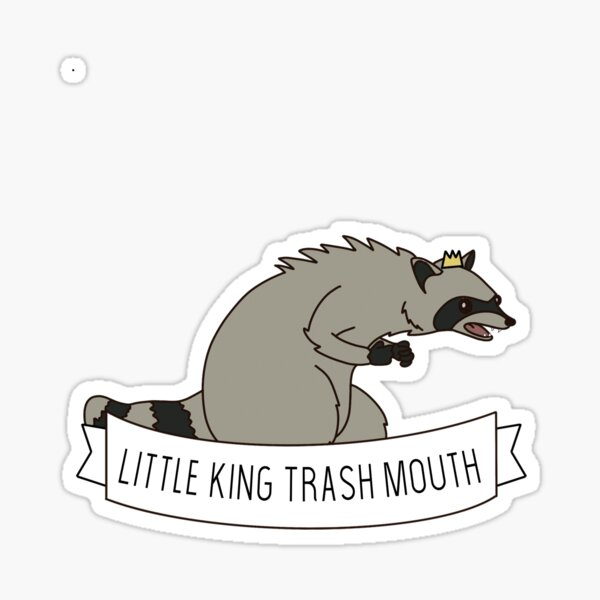 Little King Trashmouth Sticker