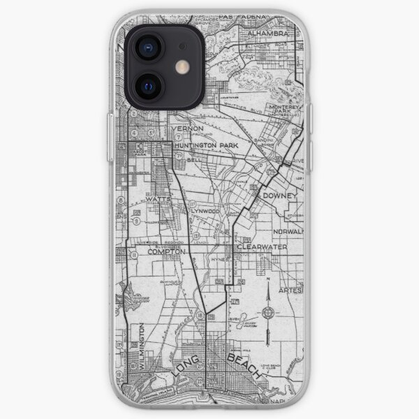 Vintage Los Angeles and San Pedro Road Map (1919) iPhone Soft Case