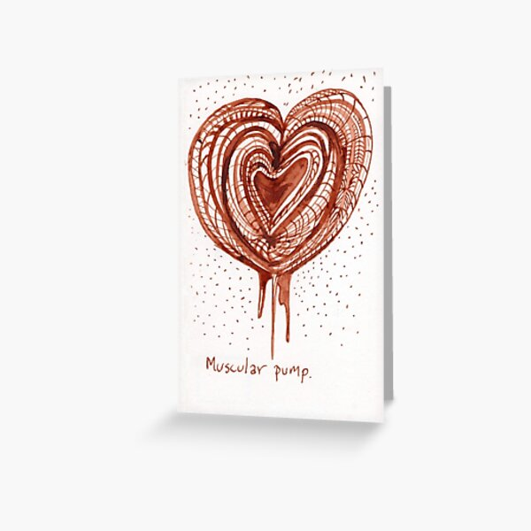 Muscular Pump (heart) drawing Greeting Card