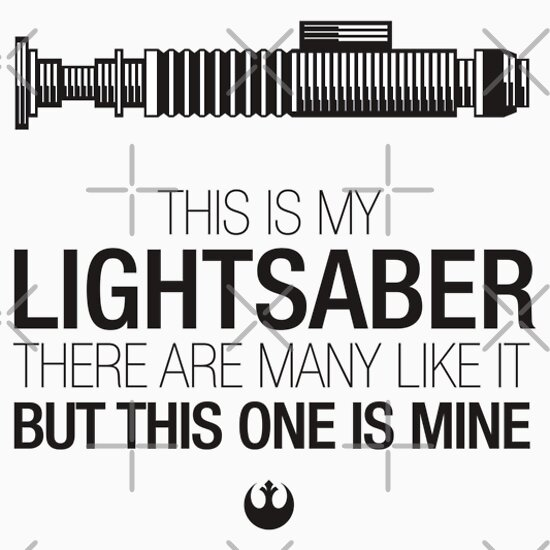 TShirtGifter presents: This is my Lightsaber - Luke