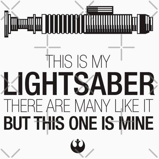 TShirtGifter presents: This is my Lightsaber - Luke