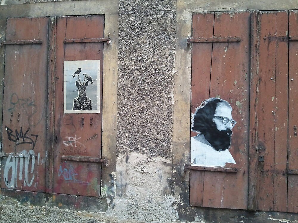 deer and Ginsberg in Bamberg by FaithBasedPress