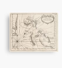 Vintage Map of The Bahamas (1764) Metal Print