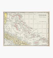 Vintage Map of The Bahamas (1901) Photographic Print