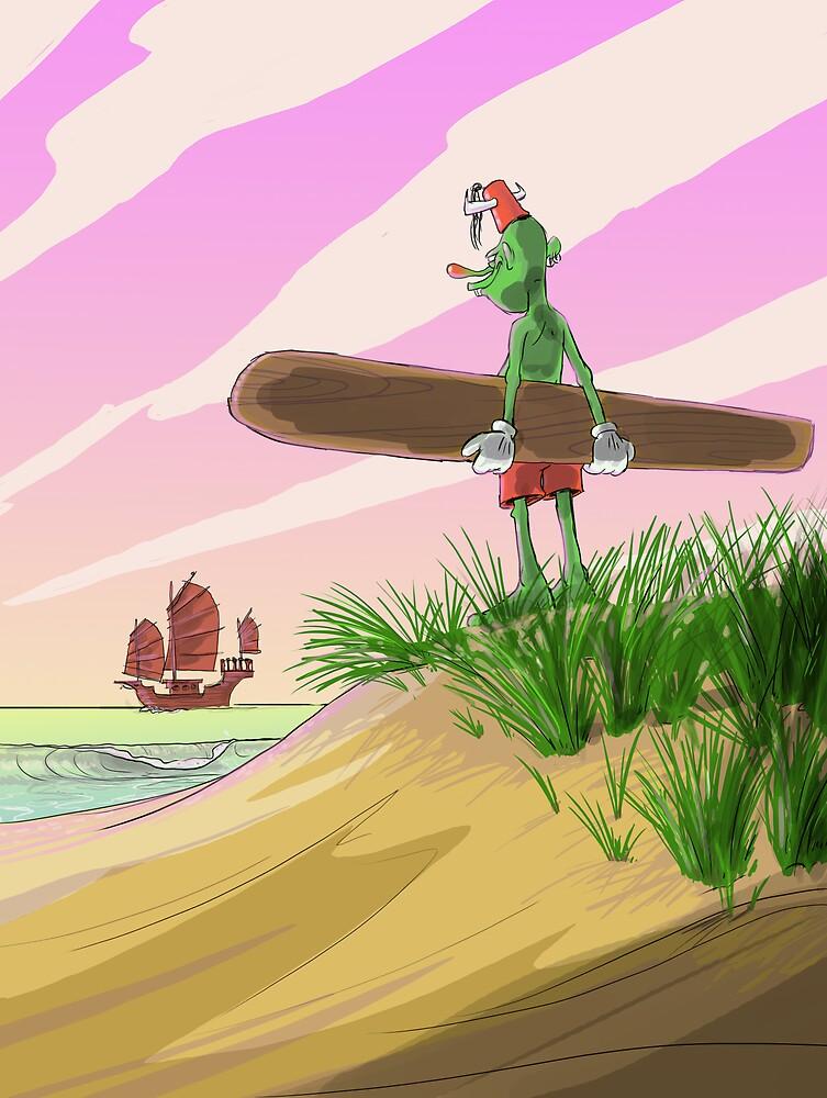 Fishhook Finnigan - Alaia board by FishhookFinn