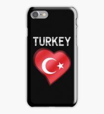 Turkey - Turkish Flag Heart & Text - Metallic iPhone Case/Skin