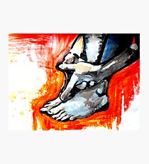 Hands and Feet Photographic Print