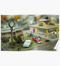 Miniature Town Scene Poster