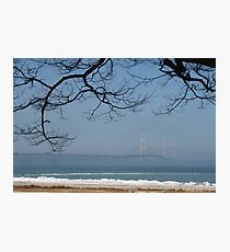 Foggy Mackinac Bridge Photographic Print