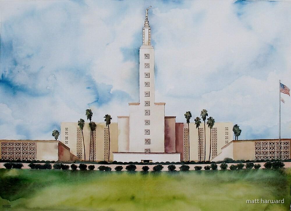 Los Angeles Temple by matt harward