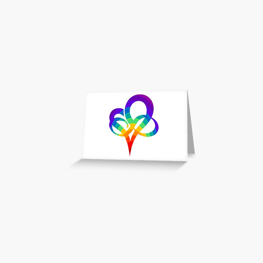 INFINITY HEART   Poly Pride   Polyamory symbol Greeting Card