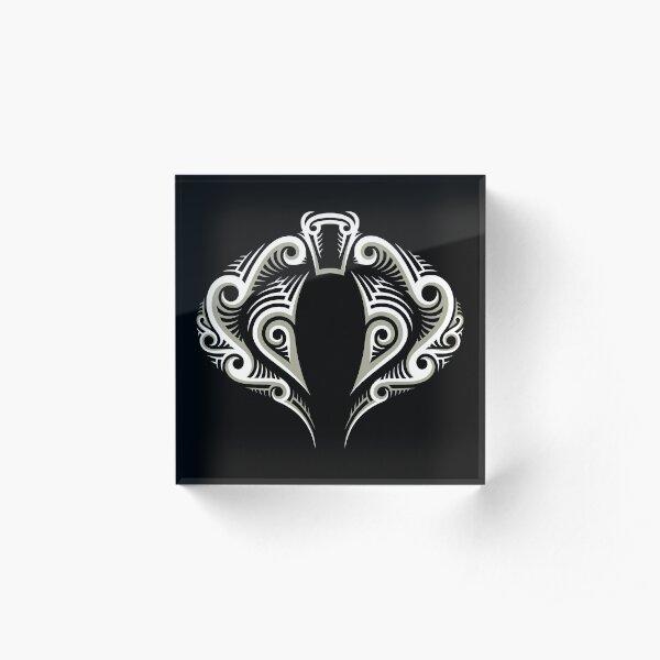 Tribal Cobra Tattoo Acrylic Block