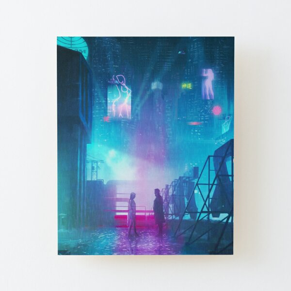 BLADE RUNNER 2049 Painting Wood Mounted Print