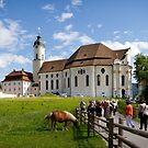 Wieskirche meadow and horse by Jenny Setchell