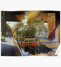 Jubilee 4-6-0 at Liverpool, Lime Street Poster