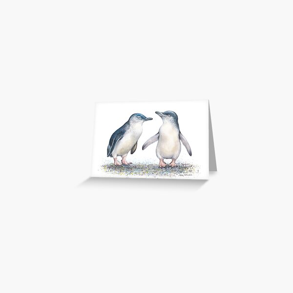 Fairy Penguin Fishing Stories - by Nadya Neklioudova Greeting Card