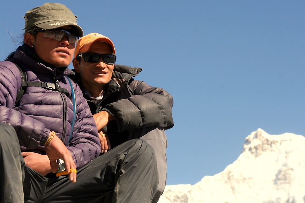 Kiran & Saresh, Scoundrel's Point, Gokyo, Nepal 2011 by LeighBlake